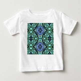 Funky Teal Lilac Artistic Pattern Baby T-Shirt