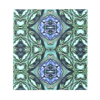 Funky Teal Lilac Artistic Pattern Notepad