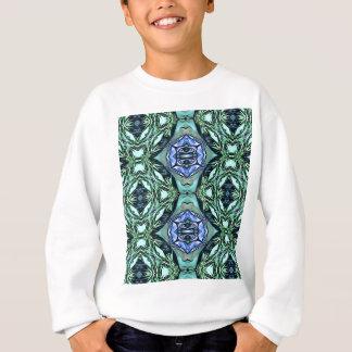 Funky Teal Lilac Artistic Pattern Sweatshirt