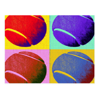 Funky Tennis Balls Postcard