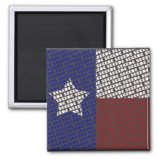 funky Texas SECEDE flag magnet