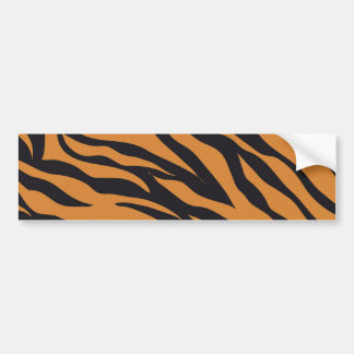 Funky Tiger Stripes Wild Animal Patterns Gifts Bumper Sticker