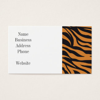Funky Tiger Stripes Wild Animal Patterns Gifts Business Card