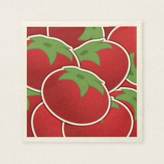 Funky tomato disposable napkins