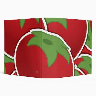 Funky tomato vinyl binders