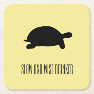 Funky Tortoise Slow and Wise Drinker Coaster
