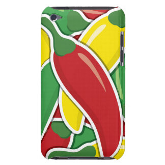 Funky traffic light chilli peppers iPod Case-Mate cases