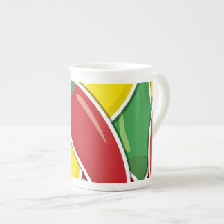 Funky traffic light chilli peppers tea cup