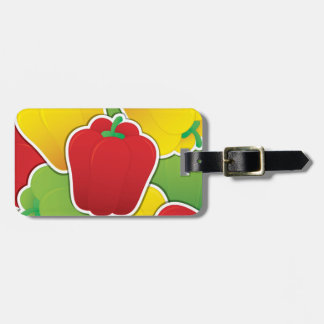 Funky traffic light peppers bag tag