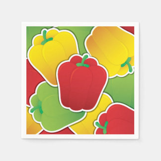 Funky traffic light peppers disposable napkin