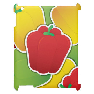 Funky traffic light peppers iPad cases