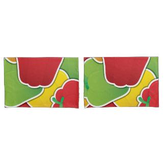 Funky traffic light peppers pillowcase