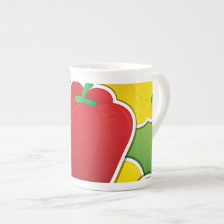 Funky traffic light peppers tea cup