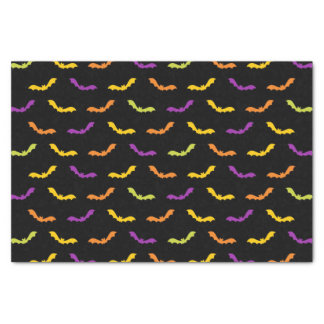 Funky Trendy Retro Abstract Halloween Pattern Tissue Paper