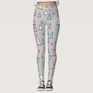 Funky Triangles Pastel Colors Leggings