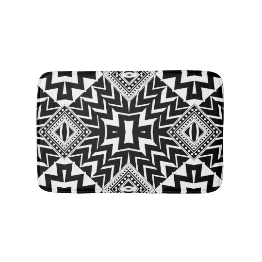 Funky Tribal Chevron Pattern Bath Mat