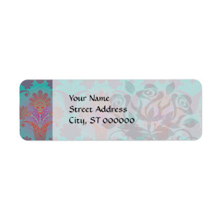 funky turquoise and magenta  damask