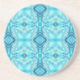 Funky Turquoise Modern Pattern Coaster