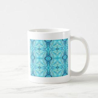 Funky Turquoise Modern Pattern Coffee Mug