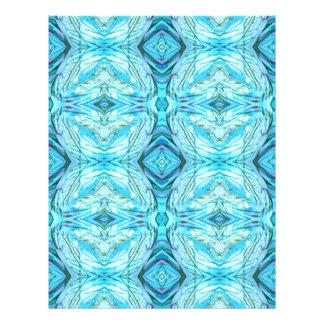 Funky Turquoise Modern Pattern Letterhead