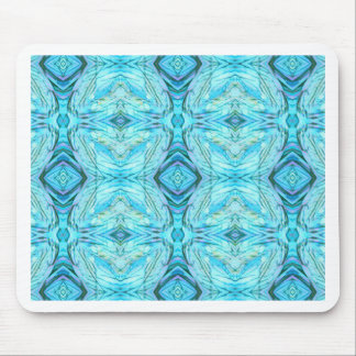 Funky Turquoise Modern Pattern Mouse Pad