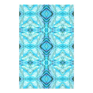 Funky Turquoise Modern Pattern Stationery