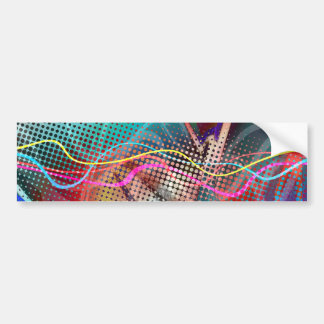 Funky Urban Graffiti Grunge Textured Bumper Sticker