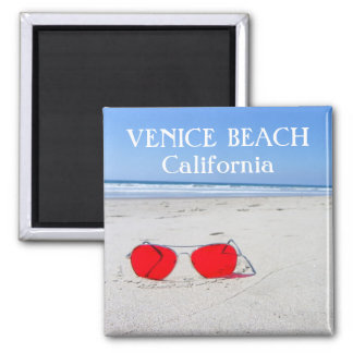 Funky Venice Beach Magnet! Square Magnet