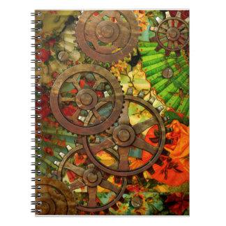 Funky Victorian Steampunk Notebook