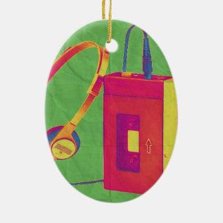 Funky Walkman 2 Ceramic Ornament