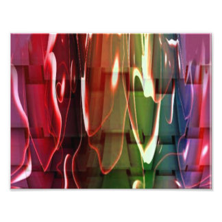 Funky Water Abstract Photo Print