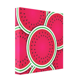 Funky watermelon slices canvas print