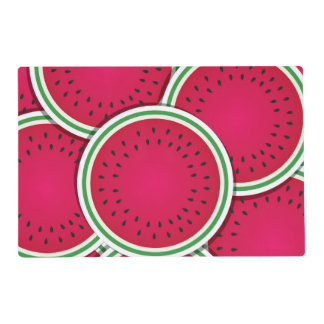 Funky watermelon slices laminated placemat