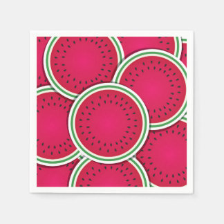 Funky watermelon slices paper napkins