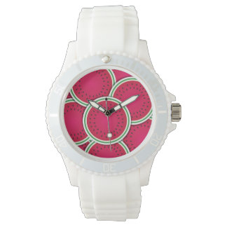 Funky watermelon slices wrist watches