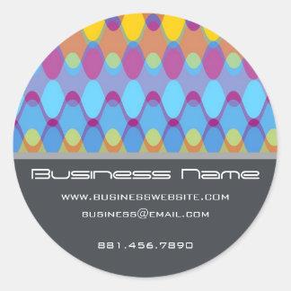 Funky Waves   02 * Designer Custom Label Sticker