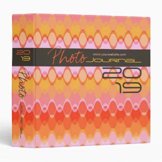 Funky Waves | 03 * Pink Modern Custom Binder
