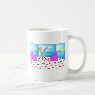 Funky Whimsical Colorful Miami, Graphic Coffee Mug