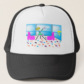 Funky Whimsical Colorful Miami, Graphic Trucker Hat