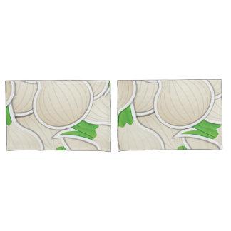Funky white onions pillowcase