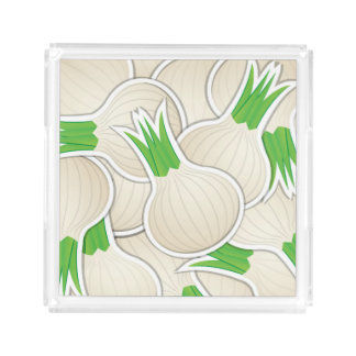 Funky white onions serving tray