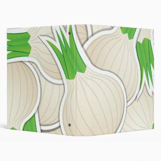 Funky white onions vinyl binders