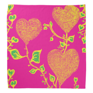 Funky & wild hearts(bandana with vibrant colours) bandana