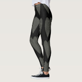 Funky-Work-Out-Gear(c) Checked Hearts--XS-TO--XL_ Leggings