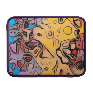 Funky yellow abstract sleeve for MacBook air