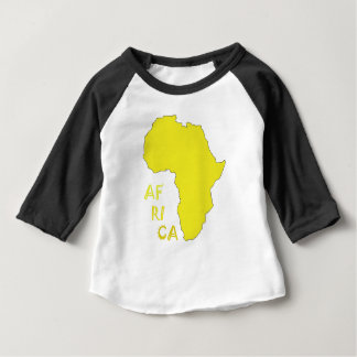 Funky Yellow Africa Map Baby T-Shirt