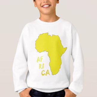 Funky Yellow Africa Map Sweatshirt