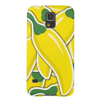 Funky yellow chilli peppers galaxy s5 covers