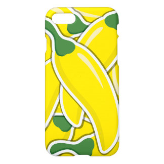 Funky yellow chilli peppers iPhone 7 case