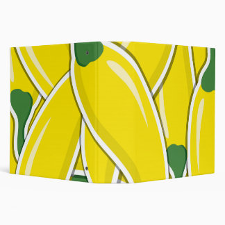 Funky yellow chilli peppers vinyl binder